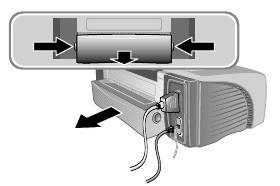 rear access panel open hp printer